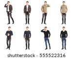 casual clothing concept   same... | Shutterstock . vector #555522316