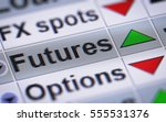 in finance  a futures contract  ... | Shutterstock . vector #555531376