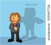 Business Lion Have Angel Shadow