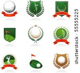 collection of golf labels ... | Shutterstock .eps vector #55555225