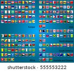 icons set vector flags in eps10 ... | Shutterstock .eps vector #555553222