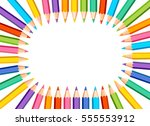 white background with colored... | Shutterstock .eps vector #555553912