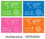 map of squares  circles ... | Shutterstock .eps vector #55555654