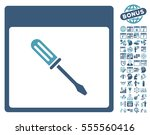 screwdriver calendar page icon... | Shutterstock .eps vector #555560416