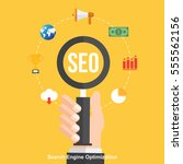 seo   search engine... | Shutterstock .eps vector #555562156
