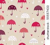 umbrella with love wallpaper... | Shutterstock .eps vector #55557433