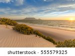 cape town beach sunset | Shutterstock . vector #555579325
