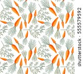seamless pattern with carrots.... | Shutterstock . vector #555579592