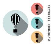 ballon icon isolated vector...