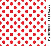 red polka dot on white... | Shutterstock .eps vector #555581188
