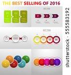 vector circle infographic set.... | Shutterstock .eps vector #555583192
