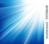 sun on a blue sky. vector... | Shutterstock .eps vector #55558648
