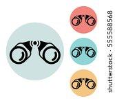 binoculars icon isolated vector ...