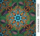 mandalas background. vector... | Shutterstock .eps vector #555591382