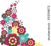 flowers. vector illustration | Shutterstock .eps vector #55559872