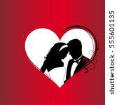 lovers. valentine's day   Shutterstock .eps vector #555601135