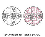 vector labyrinth 60. maze  ... | Shutterstock .eps vector #555619702