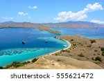 tranquil bay and the blue sea | Shutterstock . vector #555621472