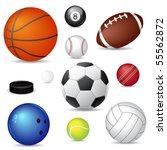 sport balls | Shutterstock .eps vector #55562872