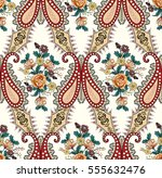 seamless colorful pattern with... | Shutterstock .eps vector #555632476
