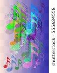 musical note texture design | Shutterstock .eps vector #555634558