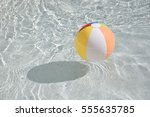 swimming pool ball floating in... | Shutterstock . vector #555635785