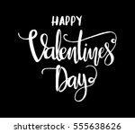 happy valentine's day.... | Shutterstock .eps vector #555638626