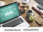 insurance coverage mix... | Shutterstock . vector #555639592