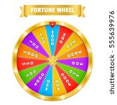 gold fortune wheel. realistic... | Shutterstock .eps vector #555639976