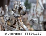 Old Rusty Metal Cemetery Fence...