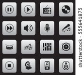 set of 16 editable media icons. ...