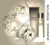 face skincare premium ad design ... | Shutterstock .eps vector #555647146