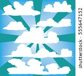clouds vector collection back... | Shutterstock .eps vector #555647152
