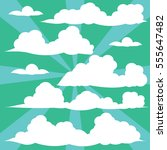 clouds vector collection back... | Shutterstock .eps vector #555647482