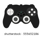 joypad game console on a white... | Shutterstock .eps vector #555652186