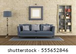 retro living room with elegant...   Shutterstock . vector #555652846
