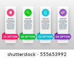 infographics template with four ... | Shutterstock .eps vector #555653992