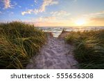 Path To A Summer Sunset Beach....