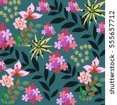 flower pattern | Shutterstock .eps vector #555657712