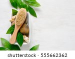 spa simple background with a... | Shutterstock . vector #555662362
