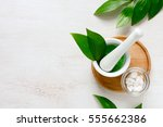 spa aromatic sea salts ... | Shutterstock . vector #555662386