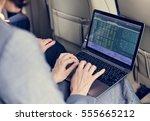 business people using laptop...   Shutterstock . vector #555665212
