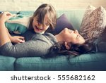 family people feelings... | Shutterstock . vector #555682162