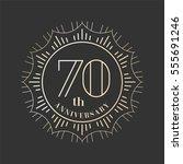 70 years anniversary vector... | Shutterstock .eps vector #555691246