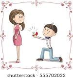 boyfriend and girlfriend...   Shutterstock .eps vector #555702022