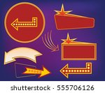 signboard collection various... | Shutterstock .eps vector #555706126