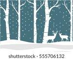 winter background white... | Shutterstock .eps vector #555706132