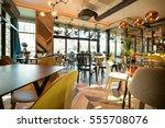 interior of a modern urban... | Shutterstock . vector #555708076