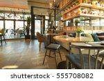 interior of a modern urban...   Shutterstock . vector #555708082