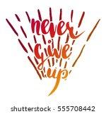 vector handwritten brush script.... | Shutterstock .eps vector #555708442
